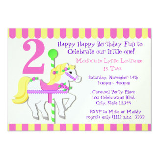 Painted Pony Birthday Party 5x7 Paper Invitation Card