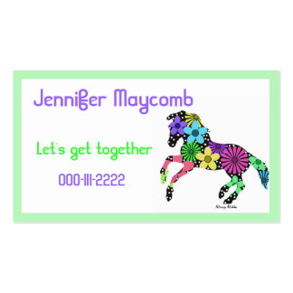 Painted Pony Calling Card Business Card Template