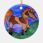 Painted Pony Christmas Ornaments