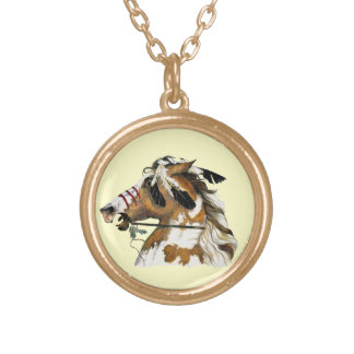 Painted Pony Gold Plated Necklace