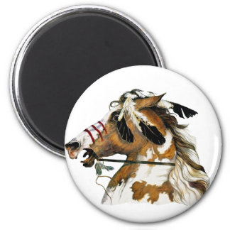 Painted Pony 2 Inch Round Magnet