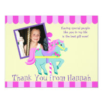 Painted Pony Photo Thank you Flat Card