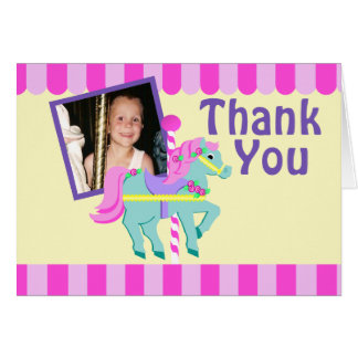 Painted Pony Thank You with Photo Stationery Note Card