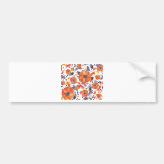 Painted Poppies Bumper Sticker