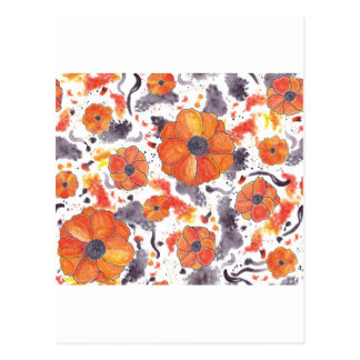 Painted Poppies Postcard