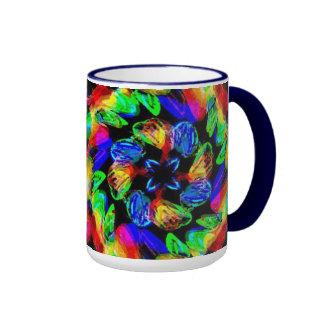 Painted Posies Ringer Coffee Mug
