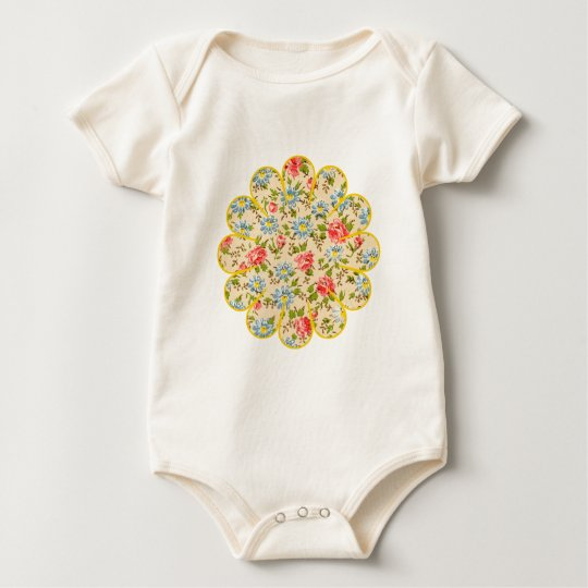 Painted Posy Baby Bodysuit
