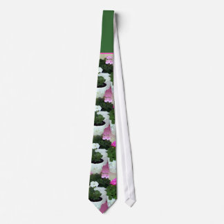 """""""Painted Potted Geraniums"""" Wedding Tie"""