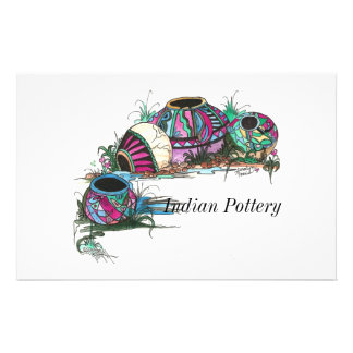 Painted Pottery, Indian Pottery Stationery