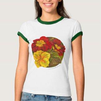 Painted primula fine art t-shirt shirt