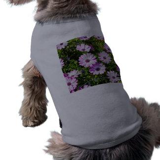 Painted Purple Flowers Doggie Tee Shirt