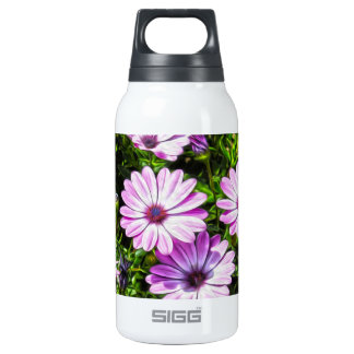 Painted Purple Flowers Insulated Water Bottle