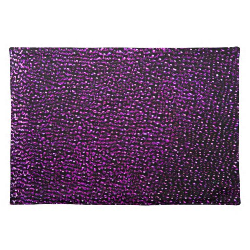 Painted purple gems cloth placemat