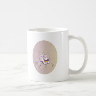Painted Purple Iris Collage Coffee Mug