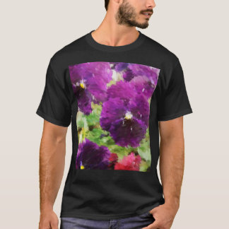 Painted Purple Pansies T-Shirt
