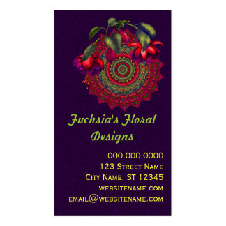 Painted Purple & Red Fuchsias Business Card