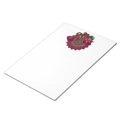 Painted Purple & Red Fuchsias Memo Notepads
