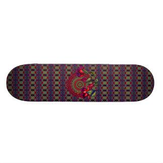 Painted Purple & Red Fuchsias Skateboard