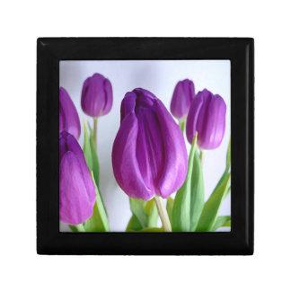 Painted Purple Tulips Gift Box