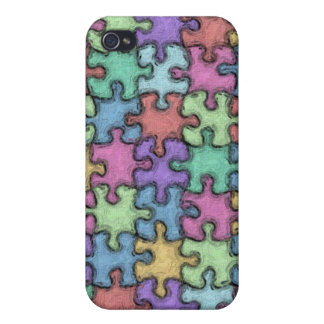 Painted Puzzle iPhone 4 Cover