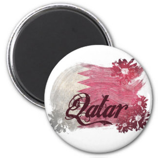 Painted Qatar Flag Refrigerator Magnets