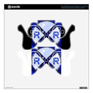 Painted Railroad Blue Crossing PS3 Controller Decal