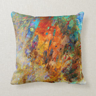 Painted Rain Throw Pillow