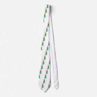 Painted Rainbow Bunny Neck Tie