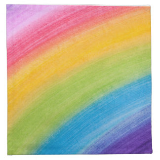 Painted Rainbow Cloth Napkin