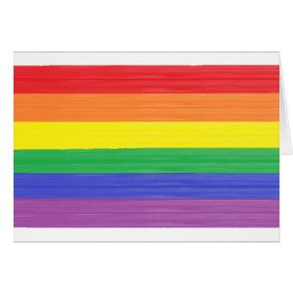 Painted Rainbow Flag Blank Card