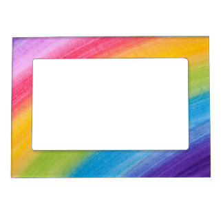 Painted Rainbow Magnetic Picture Frame