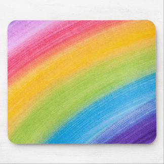 Painted Rainbow Mouse Pad