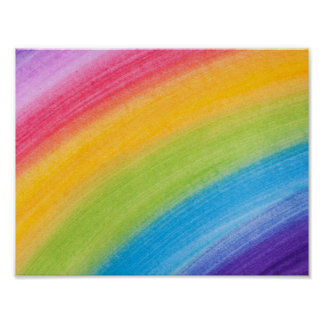 Painted Rainbow Poster