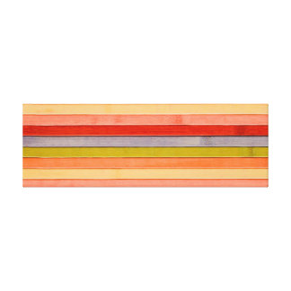 Painted Rainbow Wooden Beach Panel. Canvas Print