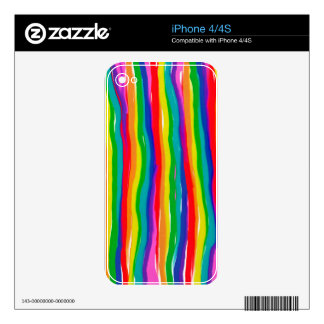 Painted Rainbows Decal For The iPhone 4