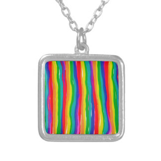 Painted Rainbows Silver Plated Necklace