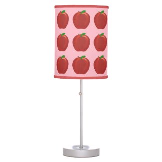 Painted Red Apples Green Leaves Custom Lamps