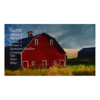 Painted Red Barn Business Card Template