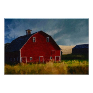 Painted Red Barn Posters