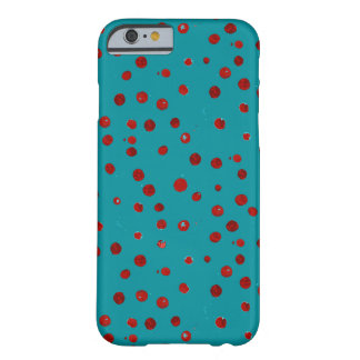Painted red berries on aquamarine case
