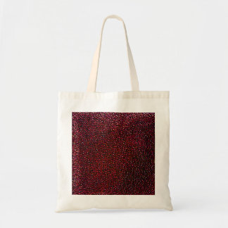 Painted red gems tote bags