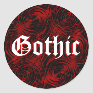 Painted Red Gothic Sticker