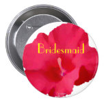 Painted Red Hibiscus Pins