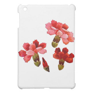 Painted Red & Pink Carnations iPad Mini Cover