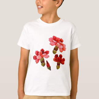 Painted Red & Pink Carnations T-Shirt