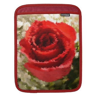 Painted Red Rose Sleeves For iPads