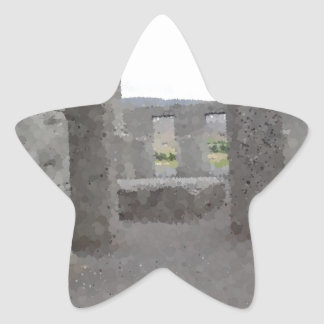 Painted Reflections of Stonehenge Star Sticker