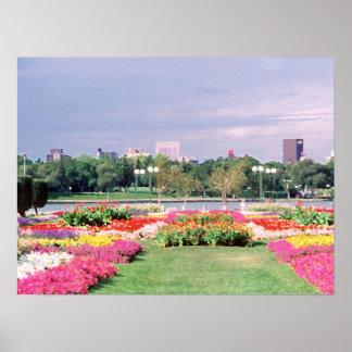 Painted Regina Legislature Gardens Poster