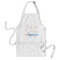 Painted Retro CIrcles blue Wedding Apron