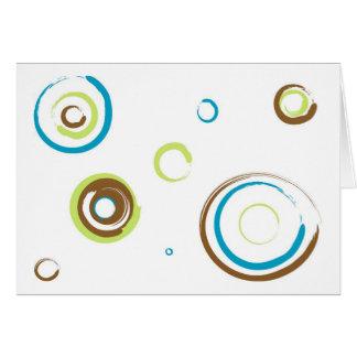 Painted retro circles... card